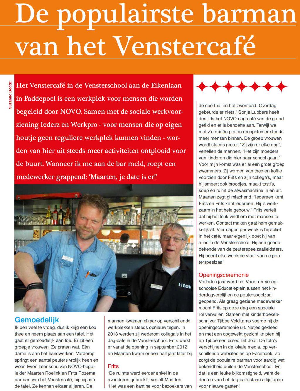 Venstercafe Tijdstip mei 2015